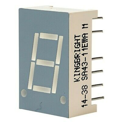 5x Kingbright SA43-11EWA 10.9mm High Efficiency Red LED Display Anode