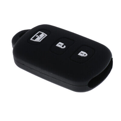 Black Car Keyless Entry Remote Smart Key Silicone Case Cover for Toyota