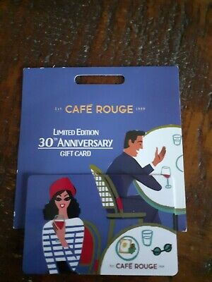 Unwanted Present- Resturant Gift Card Cafe Rouge £30