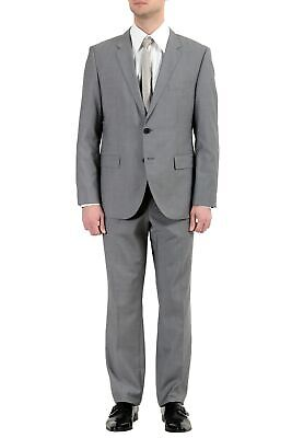 "Hugo Boss ""The James4/Sharp6"" Men's 100% Wool Gray Two Button Suit"