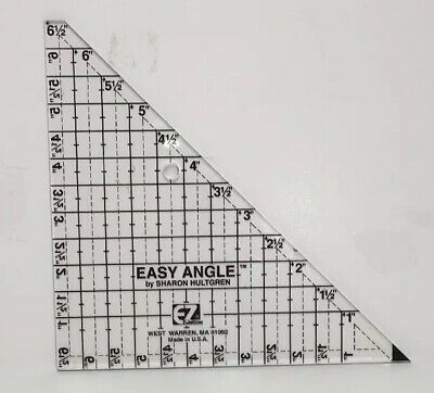 """Easy Angle 6.5/"""" Triangle Acrylic Quilting Template"""