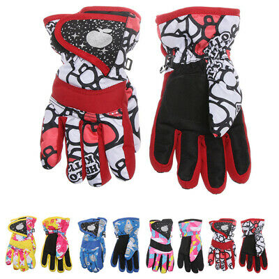 Kids Outdoor Riding Snow Snowboard Children Ski Gloves Long-sleeved Mitten