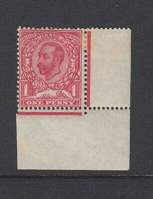 GB KGV 1d Pale Carmine SG330 George V Mint Hinged Downey Stamp with Selvedge