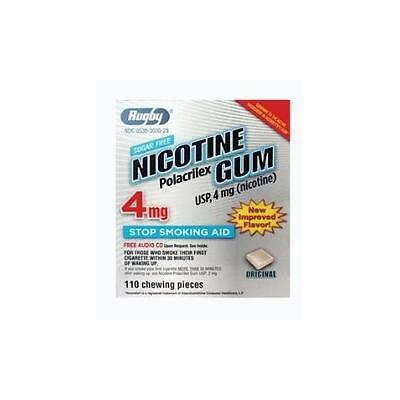 4 Paquet Rugby Nicotine Polacrilex Gomme Usp 4Mg 110 Chaque