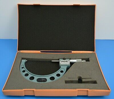 "Mitutoyo 193-215 4"" - 5"" Mechanical Counter External Micrometer. Cased. 0.0001"""