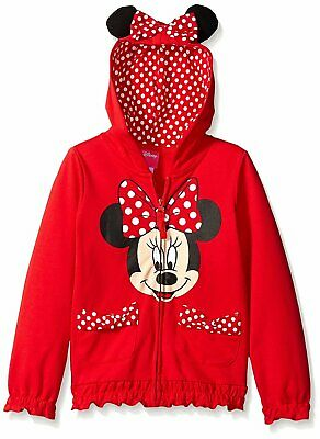 Disney Girls' Minnie Polka-Dot Bow Hoodie