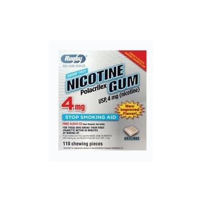 3 Paquet Rugby Nicotine Polacrilex Gomme Usp 4Mg 110 Chaque