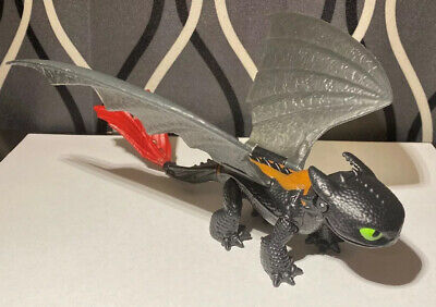 """How To Train Your Dragon 6"""" Toothless Nightfury Action Figure 2014 DreamWorks"""