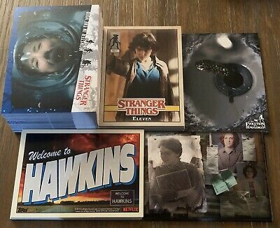 Topps Stranger Things Welcome To The Upside Down Complete Master Set - 130 Cards