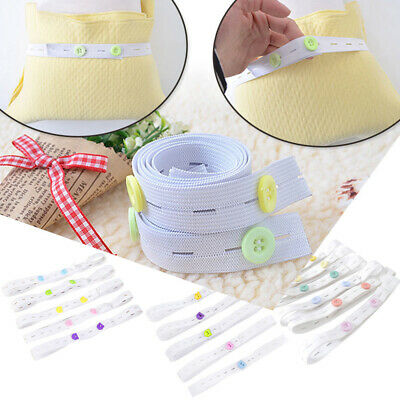 10x Infant Baby Elastic Adjustable Nappy Fasteners Diaper Fixed Belt Band