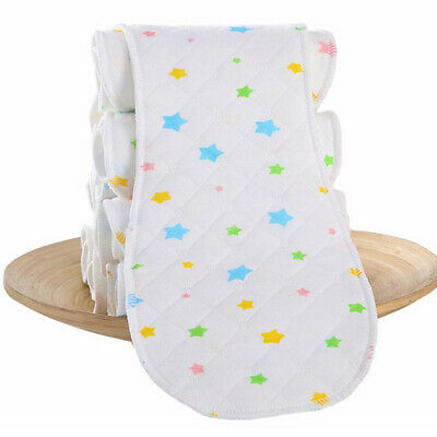 Reusable Ecological Cotton Baby Cloth Diaper Nappy Liners Insert 3 Layers