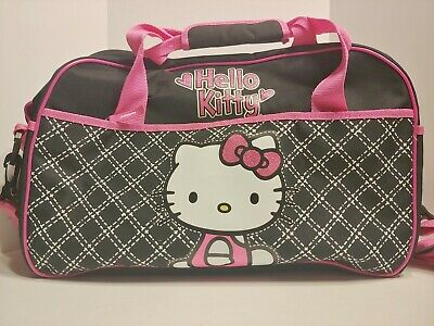 Hello Kitty Duffle Bag Sanrio - Pink and Black