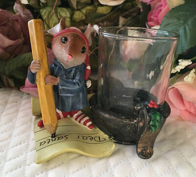 YANKEE CANDLE VOTIVE HOLDER DEAR SANTA MOUSE LETTER CHRISTMAS VERY CUTE !
