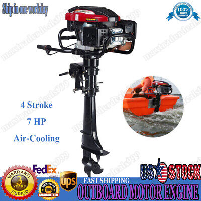HANGKAI 4Stroke 7HP Outboard Motor Boat Engine 196cc Air Cooling CDI System SALE