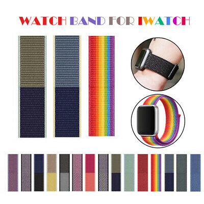 Replacement Nylon Sport Loop Wristband Strap For Apple Watch iWatch Serie 1-5 UK