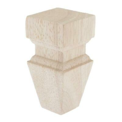 10cm Tall Unpainted Ottoman/Couch/Sofa Wooden Legs Furniture Feet Replace #12