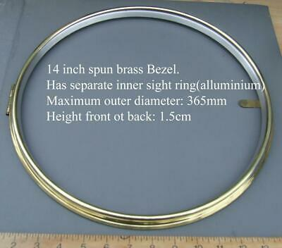 14 in clock bezel, brass for  wall / post office / railway / fusee dial clocks