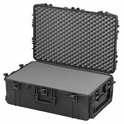 BIG Mobile Wheeled Waterproof IP67 Hard Protective Camera Case Trunk with Foam