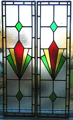 NEWLY CREATED STAINED GLASS DOOR PANELS - REF SG421 - see my other items.