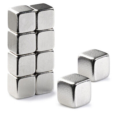 10 Very Strong Magnets 5mm Cube Neodymium 1.1Kg Pull Rare Earth Block Magnetic
