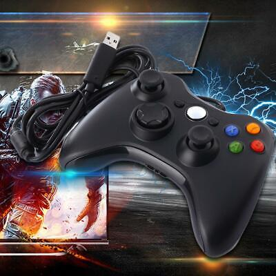 New Black Wired Controller for Xbox 360 Console USB Windows/PC AU