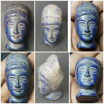 Very old rare old lapiz lazuli stone princess head statue