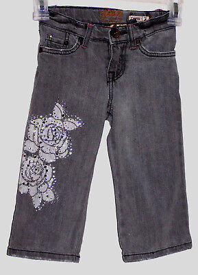 The Childrens Place Baby Girl Jeans Capri Size 4 Toddler Gray adjustable waist