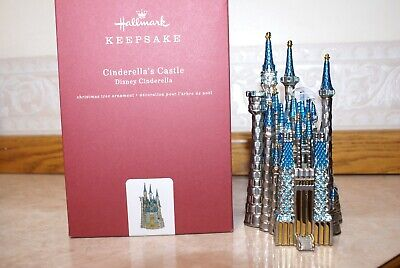 NEW CINDERELLA'S CASTLE HALLMARK ORNAMENT 2018 DISNEY CINDERELLA METAL,Gemstones