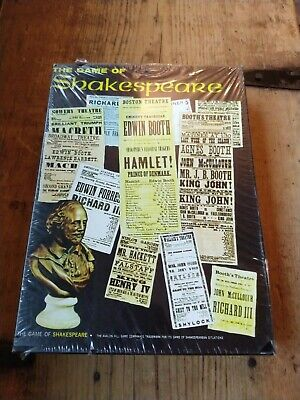 New Sealed The Game of Shakespeare By Avalon Hill 3M Bookshelf Games Vintage