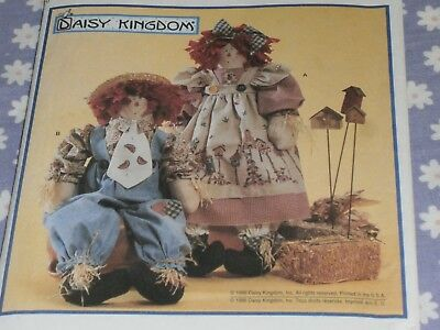 """SIMPLICITY 8022 18/"""" SCARECROW DOLLS /& OUTFITS PATTERN"""