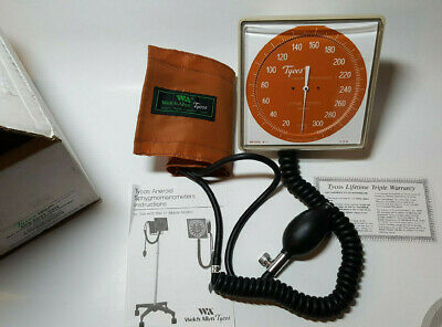 Welch Allyn Tycos Wall Mount Sphygmomanometer Aneroid 509-5091-22N w/ Adult Cuff
