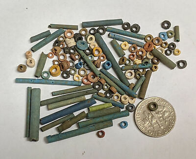 More than a Hundred 2500 Year old Ancient Egyptian Faience Mummy Beads (#L3139)