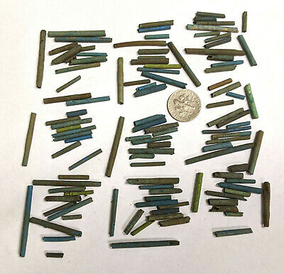 More than a Hundred 2500 Year old Ancient Egyptian Faience Mummy Beads (#L3143)
