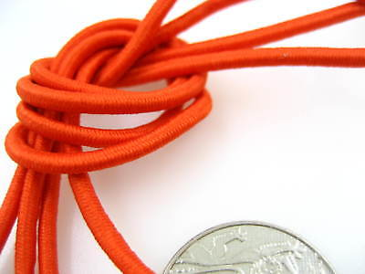 5m of 3mm orange Round Elastic cord sewing accessories 3mm stretch bungee cord