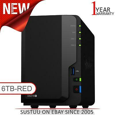 NEW! Synology DiskStation DS218+ 6TB (2 x 3TB WD RED) 2 Bay Desktop NAS Unit