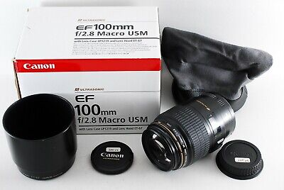 Excellent++++ Canon EF 100mm F2.8 Macro USM Lens from Japan 1005