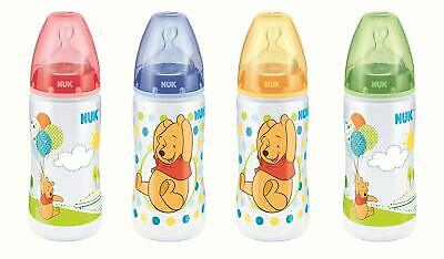 NUK First Choice+ Winnie The Pooh Bottle, 300ml, Silicone Teat, Age 0-6m