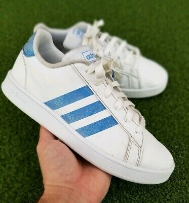 Adidas Grand Court Youth Tennis Shoes White - Size 5
