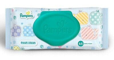 Pampers Fresh Clean Baby Wipes (64 Count) by Pampers Uk