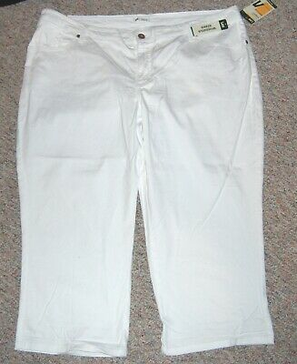 LEE White Mid-Length Capri Lower on Waist Cropped Capris Pants 24 Woman or 24W