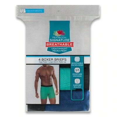 """Fruit of the Loom® Men's 4-pack Breathable Micro-mesh Boxer Briefs """"SIGNATURE"""""""