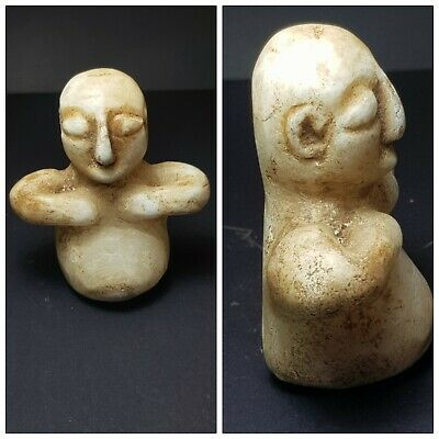 Bactrian very old alabaster stone statue