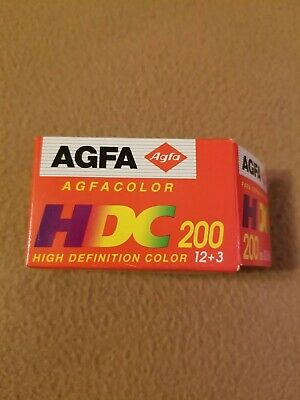 Agfa HDC 200 Color print film 35 mm 200 ISO 15 exposures