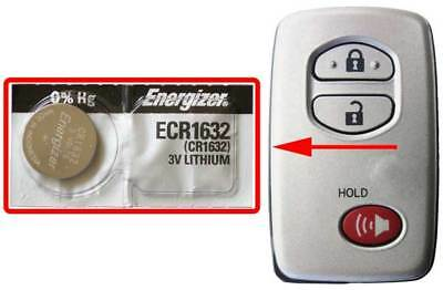 Toyota 4Runner, Highlander, Corolla Battery Energizer ECR1632 for Remote Key FOB