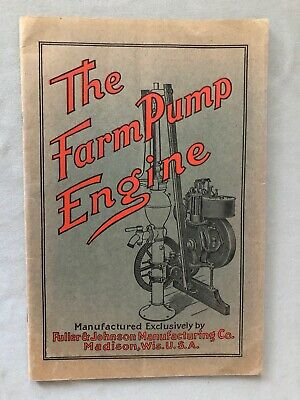 "Fuller & Johnson ""The Farm Pump Engine"" Catalog Vg 1910 Original"