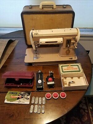 Vintage Singer 301A Sewing Machine with Case 1953 Serial# NB096824