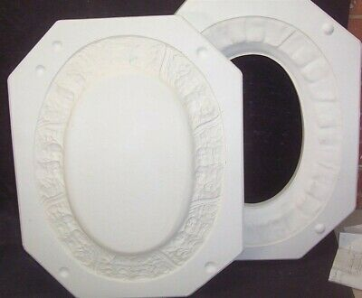 Ceramic Mold Molds OVAL CHERUB ANGEL PLATTER Boothe 1112