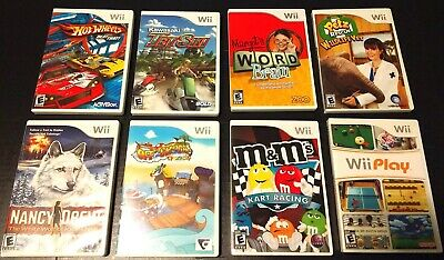 Nintendo Wii Games! You Choose from a Variety of 8 Titles Rated E for Everyone