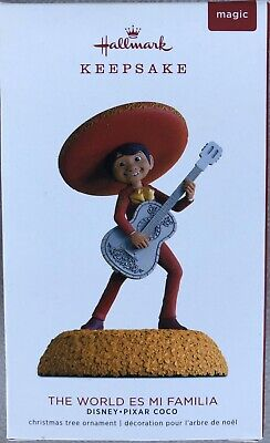 Hallmark Keepsake Ornament 2018 Disney Pixar Coco The World es Mi Familia - NEW