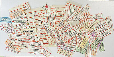 400 + Vintage Jukebox Title Strips 1960s And 70s
